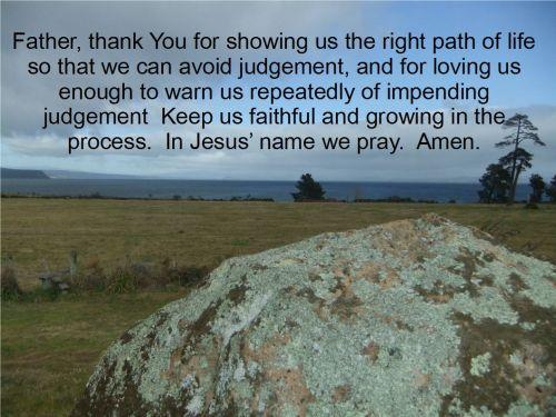A Prayer As We Face Judgement - 1